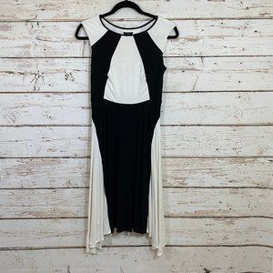 Ann Taylor black white sleeveless Dress